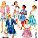 McCall's Sewing Pattern 3203 Girls' Size 7 Wardrobe Shirt Jacket Shirt Knit Top Skirt Petticoat