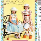 McCall's Sewing Pattern 3215 Girl's Size 3-5 Full Skirt Dresses Apron Purse Mary Engelbreit