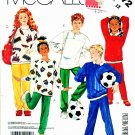 McCall's Sewing Pattern 3272 Boys' Girls' Size 7 Knit Pullover Sweatshirt Tops Pants