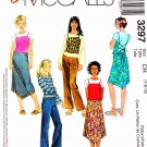 McCall's Sewing Pattern 3297 Girls Size 7-10 Easy Wardrobe Knit T-Shirt Top Skirt Pants