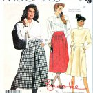 McCall's Sewing Pattern 3359 Misses' Size 8 Brooke Pull-on Gathered Front Pleated Skirts