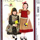 McCall's Sewing Pattern 3366 Girls' Size 6-8 Dresses Pinafore Vest Mary Engelbreit