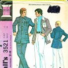 "Vintage McCall's Sewing Pattern 3521 Men's Chest Size 48"" Sport Jacket Pants Knit Leisure Suit"