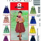 McCall's Sewing Pattern 3533 Girls' Size 3-5 Easy Summer Sundress Jumper Sleeveless Dresses