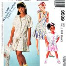 McCall's Sewing Pattern 3539 Girls' Size 7-10 Easy Shirt Dropped Waist Sleeveless Dress