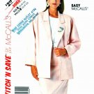 McCall's Sewing Pattern 3560 Misses' Size 16-20 Easy Unlined Long Sleeve Jacket Straight Skirt