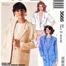 McCall's Sewing Pattern 3565 Misses' Size 12-16 Button Front Long Short Sleeve Jacket