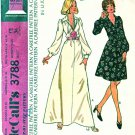 McCalls Sewing Pattern 3788 Misses Size 12 Long Sleeve Flared Skirt Dress Two Lengths