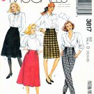 McCalls Sewing Pattern 3817 Misses Size 12-16 Easy Straight Flared Skirts Pants