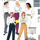 McCall's Sewing Pattern 3918 Misses' Size 14 Basic Pants Slacks Trousers Pleated Front