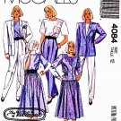 McCalls Sewing Pattern 4084 Misses Size 12 Wardrobe Lined Jacket Blouses Skirt Pants
