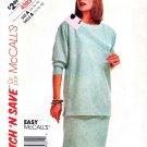 McCalls Sewing Pattern 4393 Misses Size 14-18 Easy Pullover Top Straight Skirt