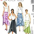 McCalls Sewing Pattern 4457 Misses Size 8-14 Easy Asymmetrical Overlay Skirts