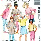 McCalls Sewing Pattern 4562 Girls Size 8-10 Easy Knit Tunic Tops Skirt Pants Cummerbund