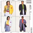 McCalls Sewing Pattern 4671 Misses Size 10-14 Easy Unlined Jacket Length Options