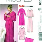 McCalls Sewing Pattern 4720 MissesSize 4-14 Easy Robe Top Gown Pants Blanket Pajamas