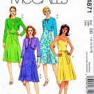 McCalls Sewing Pattern 4871 Misses Size 12-18 Bolero Shrug Summer Dress Pleated Skirt