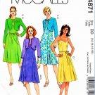 McCalls Sewing Pattern 4871 Misses Size 12-18 Bolero Shrug Summer Dress Pleated Skirt