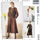 McCalls Sewing Pattern 5028 Misses Size 12-16 Easy Vest Long Sleeve Jumpsuit Dress