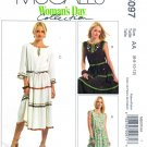 McCalls Sewing Pattern 5097 Misses Size 6-12 Pullover Tiered Skirt Dress Sleeve Option