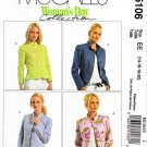McCalls Sewing Pattern 5106 Misses Size 14-20 Lined Button Front Long Sleeve Jackets