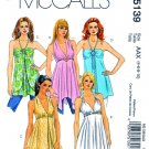 McCalls Sewing Pattern 5139 Misses Size 4-10 Easy Halter Raised Waist Long Skirt Tops