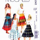 McCalls Sewing Pattern 5141 Misses Size 14-20 Peasant Tiered Embellished Appliqued Skirts