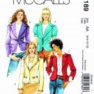 McCalls Sewing Pattern 5189 Misses Size 6-12 Lined Fitted Button Front Jackets Sleeve Options