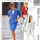 McCalls Sewing Pattern 5232 Misses Size 12-16 Lined Jacket Skirt Pants Shorts Suit