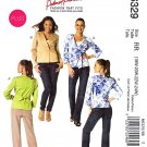 McCalls Sewing Pattern 6329 Woman's Plus Size 18W-24W Princess Seam Snap Tie Lined Jacket