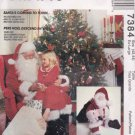 McCalls Sewing Pattern 7384 8992 Mens Misses Size X-Large 46-48 Santa Claus Costume Bag Doll
