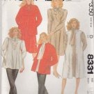 McCalls Sewing Pattern 8331 Misses Size 14 Maternity Wardrobe Jacket Jumper Dress Top Pants