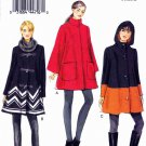 Vogue Sewing Pattern 8860 Misses Size 16-24 Easy Lined Front Closure Swing Coat Optional Hood