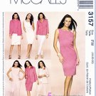 McCall's Sewing Pattern 3157 Misses Size 6-10 Easy Wardrobe Dress Top Shirt-Jacket Pants Skirt