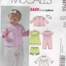 McCalls Sewing Pattern 4755 Baby Size S-XL Easy Jacket Jumpsuit Dress Panties