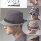 Vogue Sewing Pattern 8869 Men's Small-Xlarge Lined Hats Berets Fedora Trilby Bucket Cap