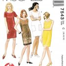 McCalls Sewing Pattern 7543 Misses Size 10-14 Easy One Hour Straight Dress Sleeve Options