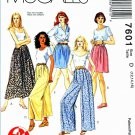 McCalls Sewing Pattern 7601 Misses Size 12-16 Pull-On Skirts Culotes Split-Skirts