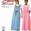 McCalls Sewing Pattern 7633 Misses Size 8-14 Easy Jumper Pullover Top