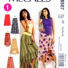 McCalls Sewing Pattern 6567 Misses Size 4-14 Loose-fitting Gathered Skirts Length Options