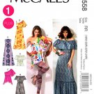 McCalls Sewing Pattern 6558 Misses Size 8-16 Pullover Peasant Dresses Tops