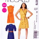 McCalls Sewing Pattern 6279 Misses Size 8-16 Easy Double Breast Button Front Straight Dress