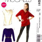 McCalls Sewing Pattern 6241 Misses Size 8-16 Easy Pullover Knit Tunic Top