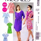 McCalls Sewing Pattern 6520 Misses Size 8-16 Easy Button Front Sleeve Hem Waist Options Dress