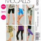 McCalls Sewing Pattern 6360 M6360 Womans Plus Size 18W-24W Easy Knit Leggings Shorts Four Lengths