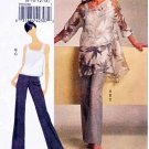 Vogue Sewing Pattern 8504 Misses Size 8-14 Easy Pullover Tunic Top Pants Shell