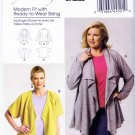 Butterick Sewing Pattern 5793 Womens Plus Size 18W-44W Easy Knit Shawl Kimono Style Jackets
