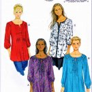 Butterick Sewing Pattern 5861 Misses Size 8-16 Pullover Button Front Loose-Fitting Tunic Top