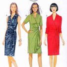 Butterick Sewing Pattern 5862 B5862 Womens Plus Size 18W-24W Pullover Knit Mock Front Wrap Dress
