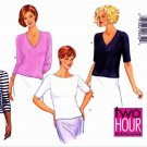 Butterick Sewing Pattern 6084 Misses Size 14-18 Easy Knit Pullover Tops Neck Sleeve Variations